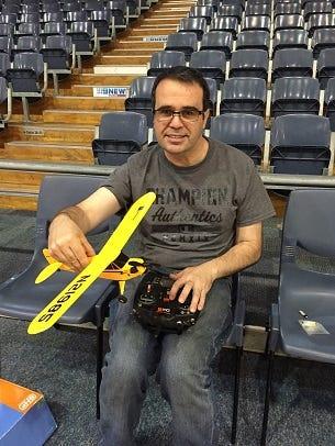 Ian Smedman with his UMX Piper J-3 Cub