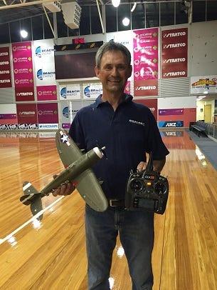 Greg Leigh with his UM P-47 Thunderbolt