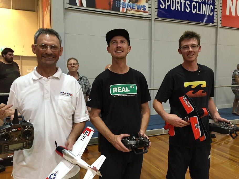 L-R, Greg Leigh, Shaun Jacobsen and Jarryd Jacobsen (UM Beast)