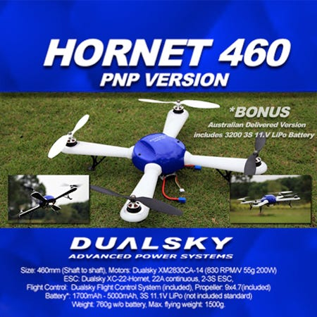 New! Dualsky Quadcopter - The Hornet 460!