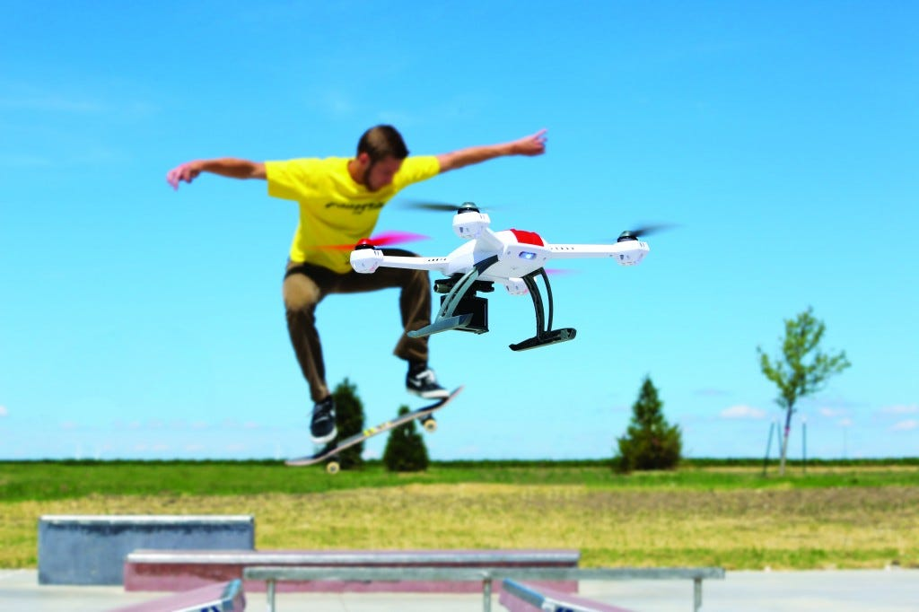 Arial photography quadcopter
