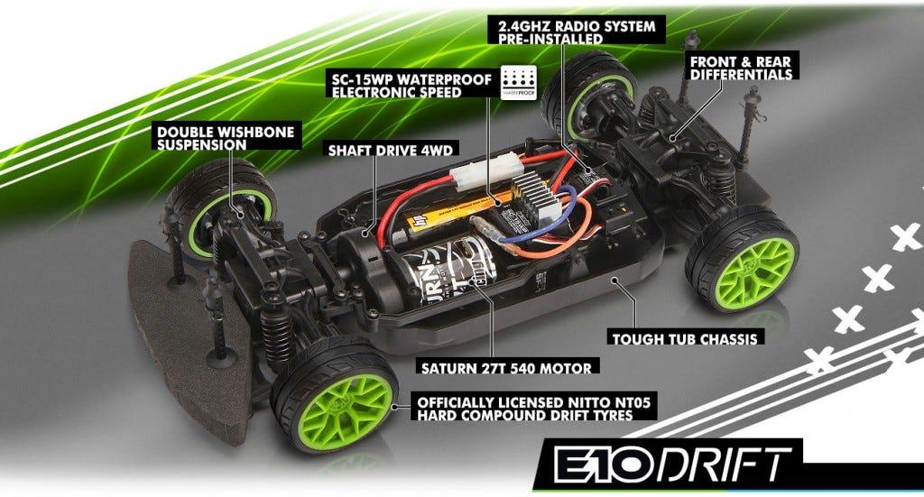 e10 rc drift car