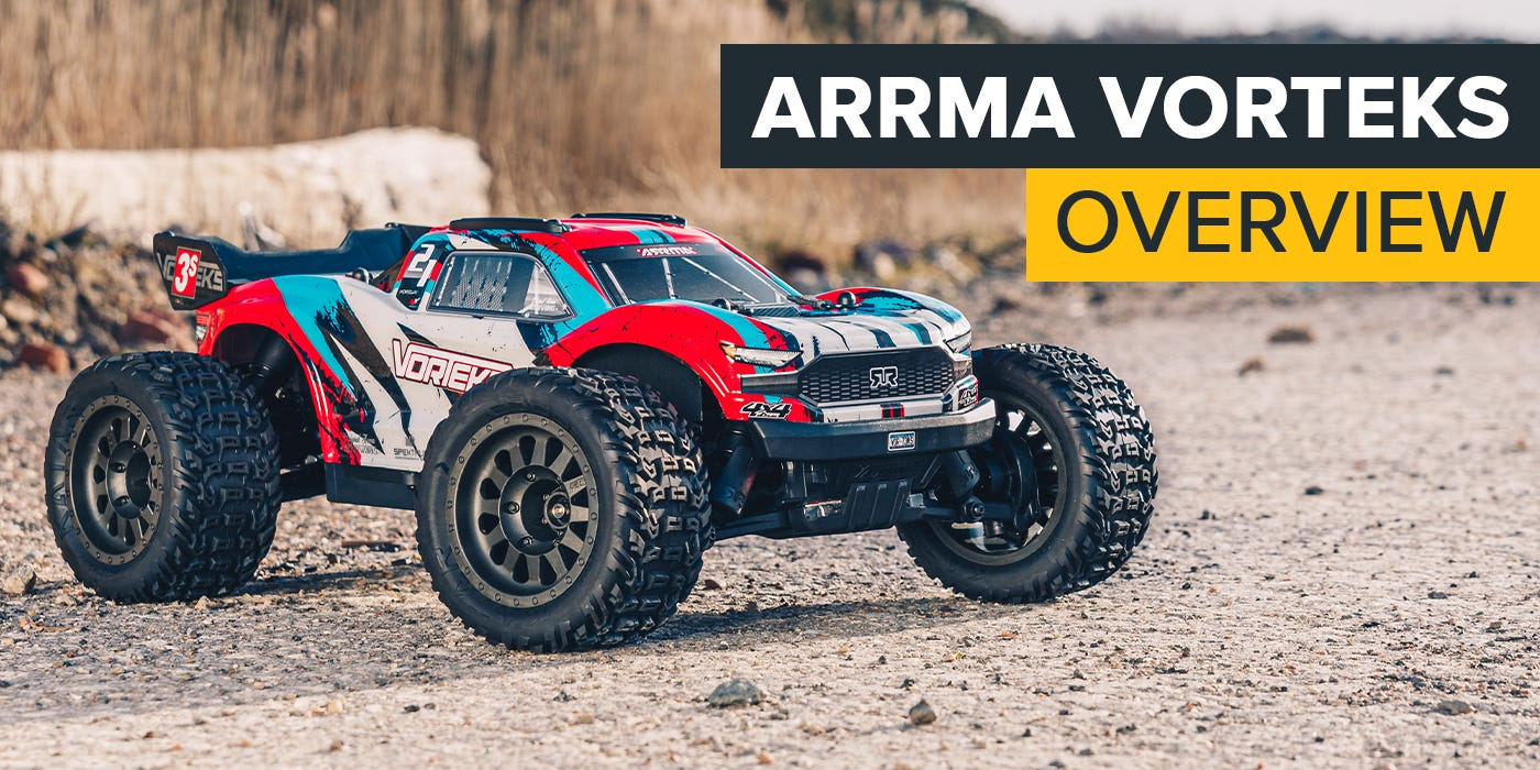 NEW ARRMA Vorteks 4X4 3S BLX RC Stadium Truck is available at Modelflight!