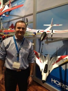 Quique Somenzini shows of his latest invention for HobbyZone - the Stratos!