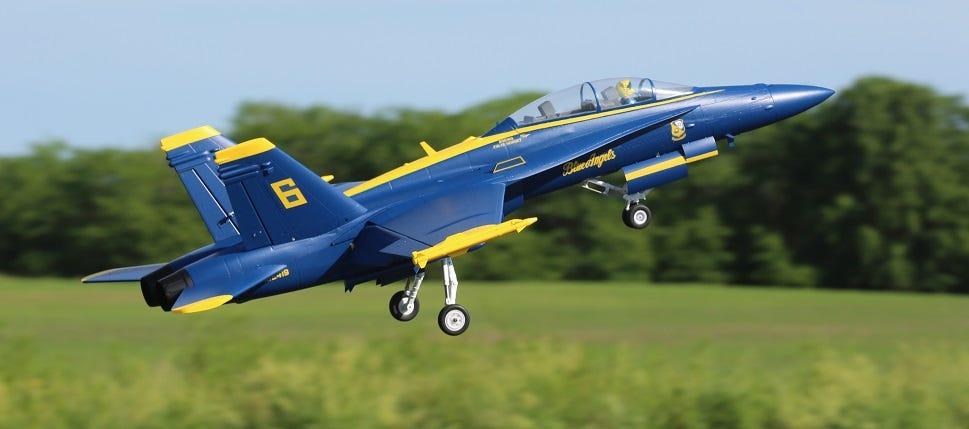 E-flite F-18 Blue Angels EDF Jet