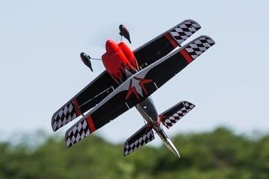 RC plane flying