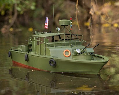 Military RC scale boat